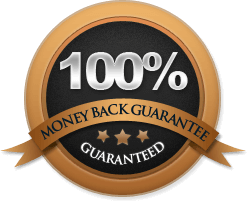 Money Back Guarantee Stamp and Seal